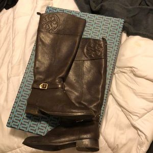 Tory Burch brown riding boots, size 9.5